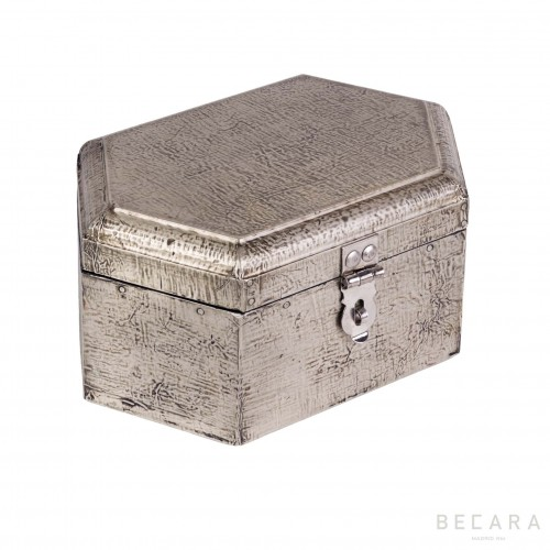 Gray hexagonal box