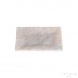 Fuente de mármol rectangular pequeña