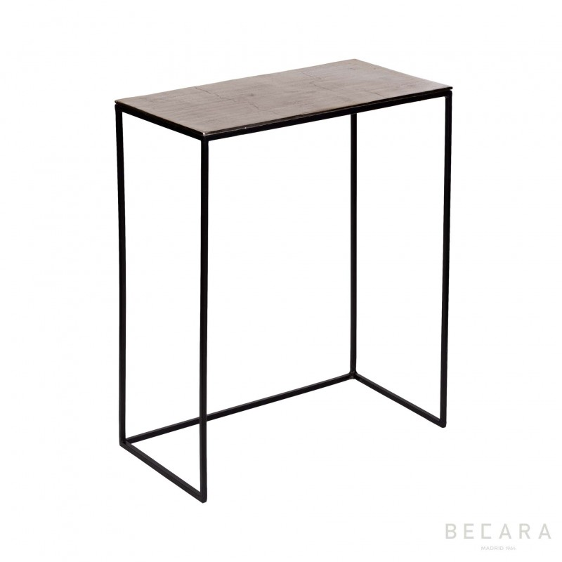 Big champagne gold side table