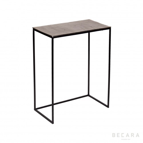 Medium champagne gold side table