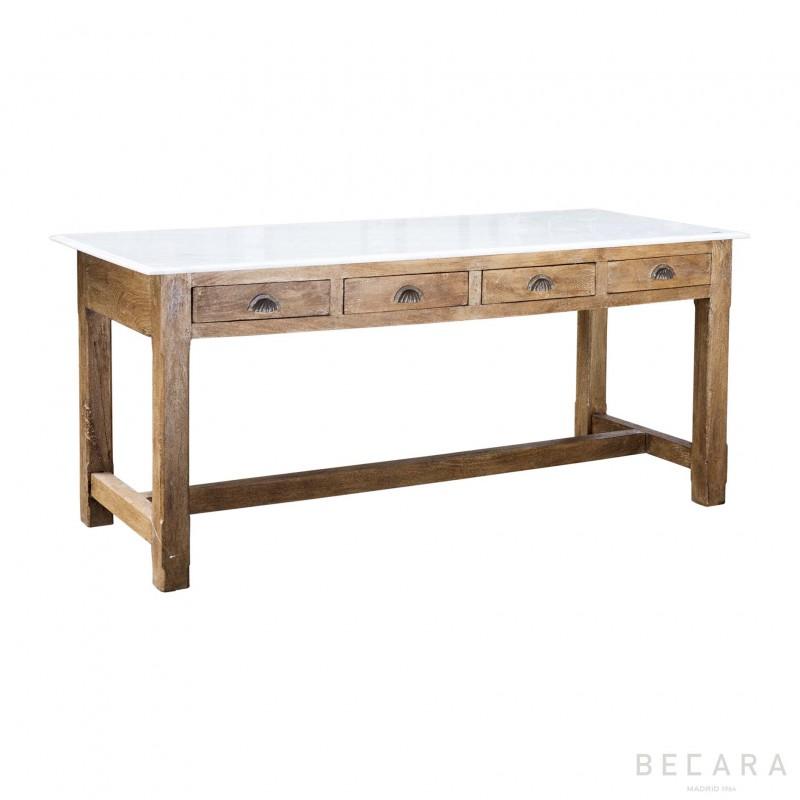 Marble top wooden Table/desktop