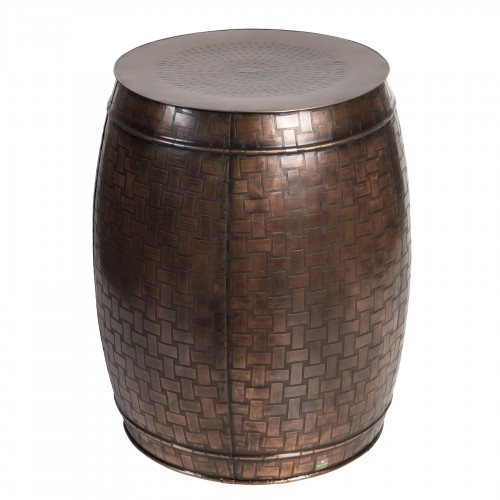 Big coppery iron stool