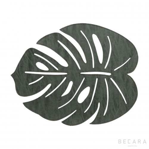 Leather water lily leaf placemat