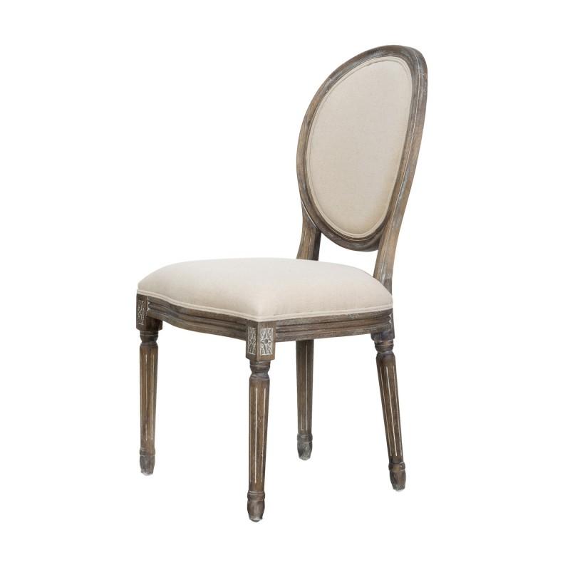 Silla Luis XVI con respaldo ovalado - BECARA