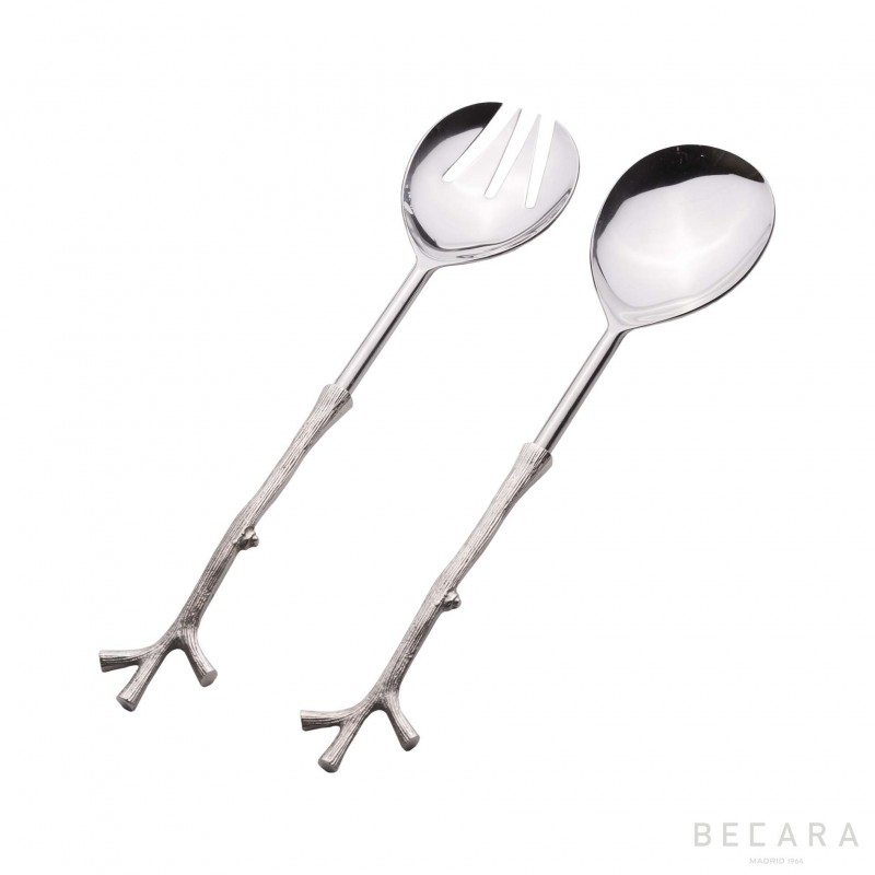 Cutlery set with coral handle