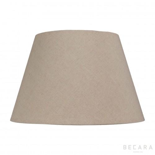 Pantalla cónica 50 lino tostado - BECARA