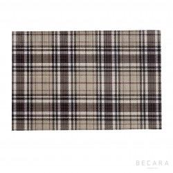 Individual escocés gris y negro - BECARA
