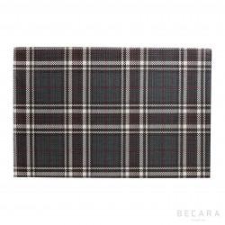 Individual escocés marrón y beige - BECARA