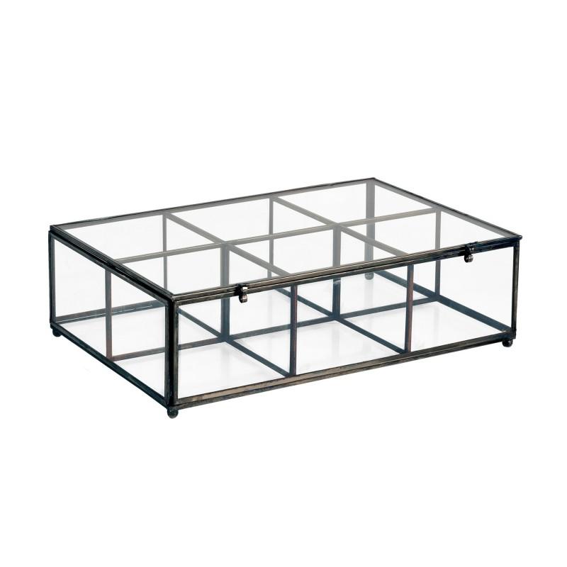 Caja de cristal y metal - BECARA