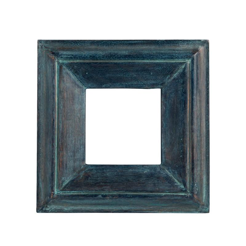 Bluish wooden square frame