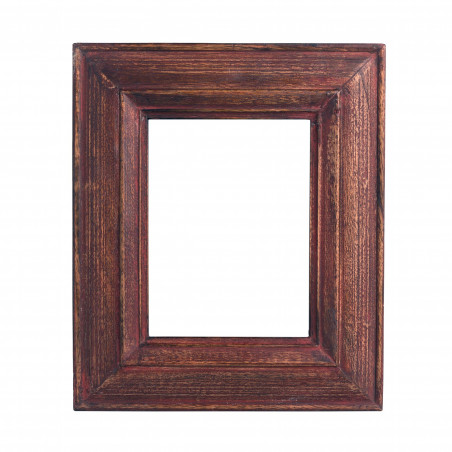 Red washed wooden frame
