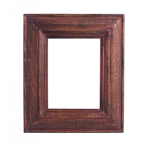 Marco de madera rojo lavado - BECARA