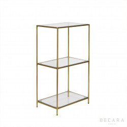 Glass and iron side table