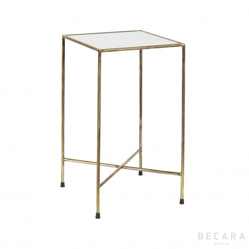 Oldish glass side table