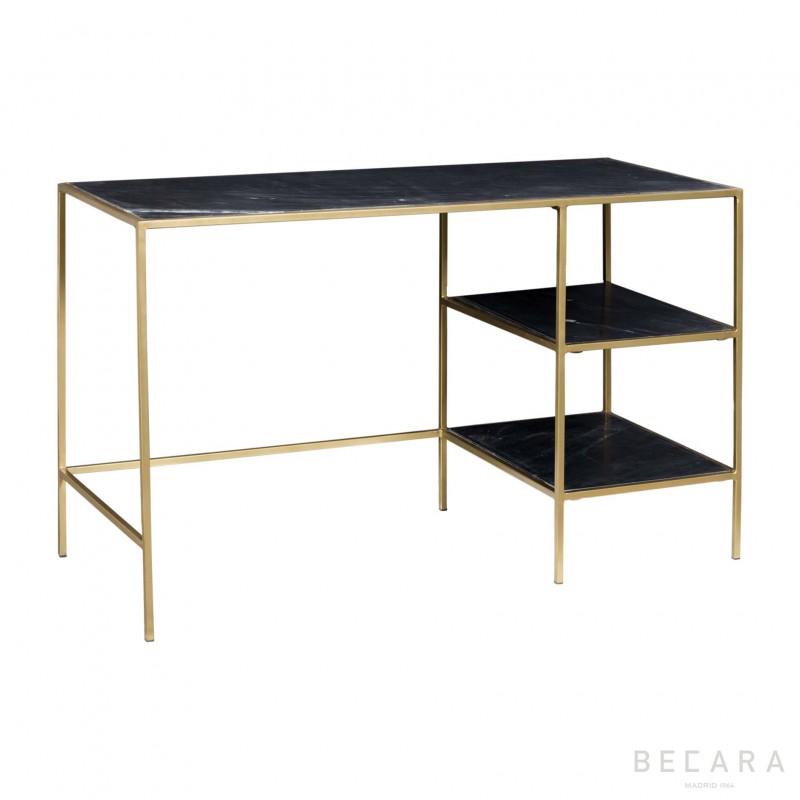 Black marbel golden desk