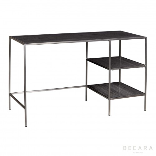 Gray marbel silver desk