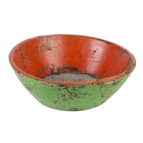 Small green and red bowl