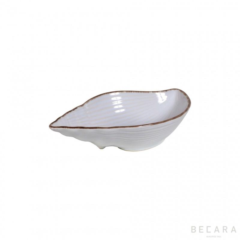 Bowl de caracol de cerámica pequeño - BECARA