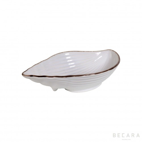 Medium ceramic snail bowl