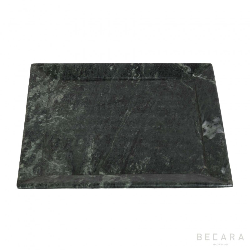 Big green marble plate