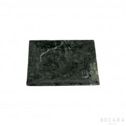 Small green marble plate