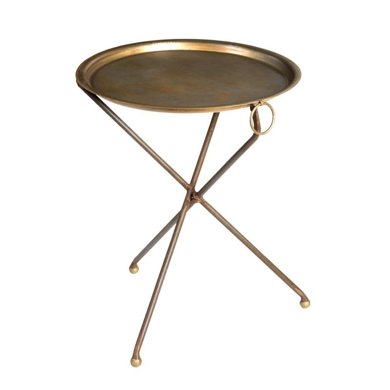 Velador de metal con patas trípode - BECARA