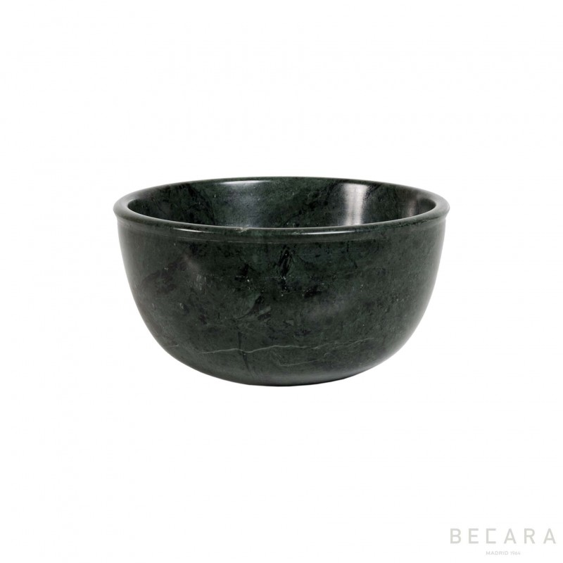 Small green marble bowl