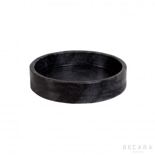 Fuente redonda de mármol gris mediana - BECARA