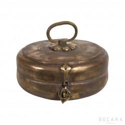 Big metallic round box