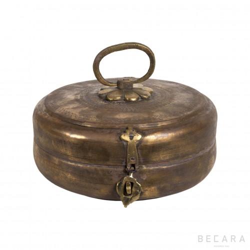 Caja redonda de metal grande - BECARA