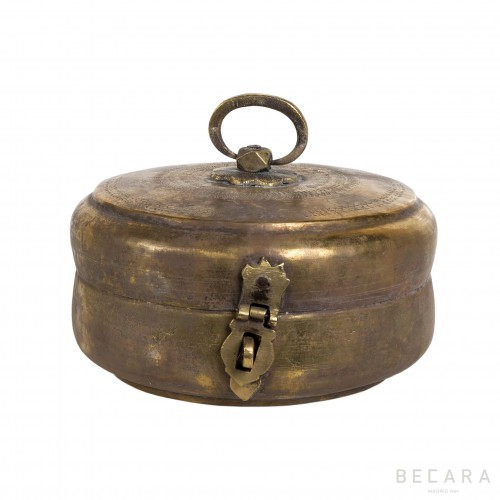 Caja redonda de metal pequeña - BECARA