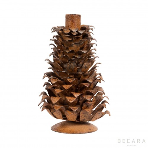 Big rusted pineapple candleholder