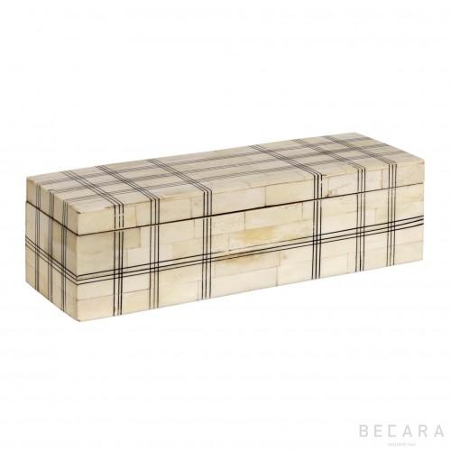 Caja de hueso a cuadros - BECARA