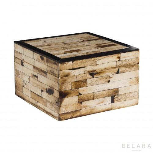Caja de hueso con borde negro - BECARA