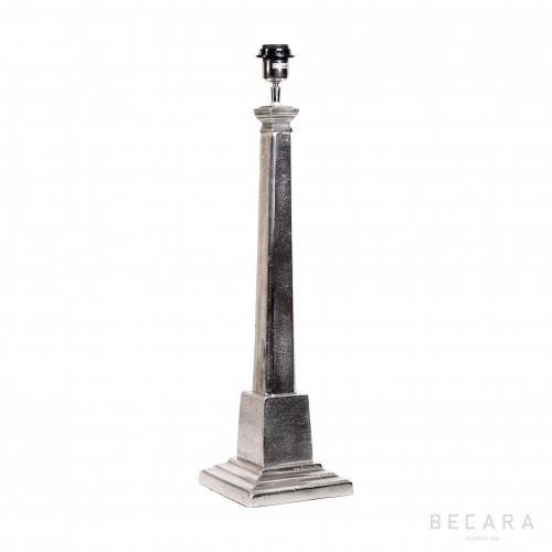 Lámpara de mesa niquelada - BECARA