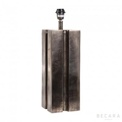 Lámpara de mesa Donosti plateada - BECARA