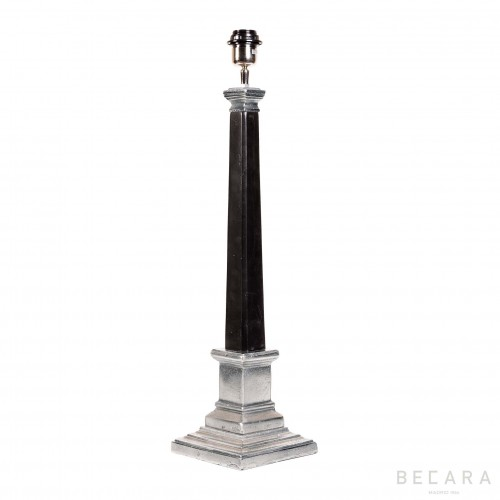 Black nickel table lamp