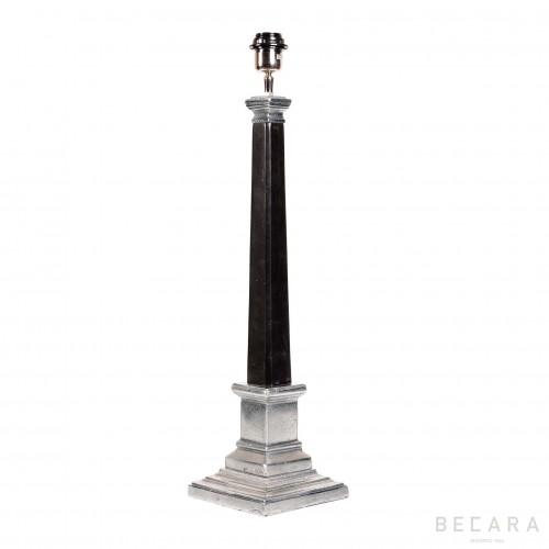 Lámpara de mesa negra niquelada - BECARA