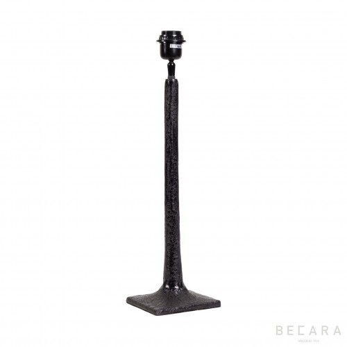 Matte black table lamp