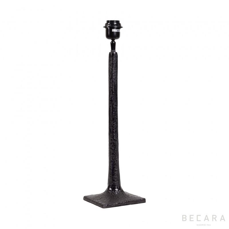 Matte black table lamp