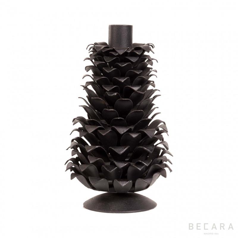 Candelabro negro piña grande - BECARA