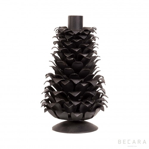 Big black pineapple candleholder