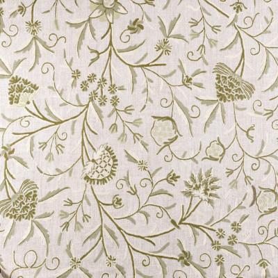 Tela bordada de lino