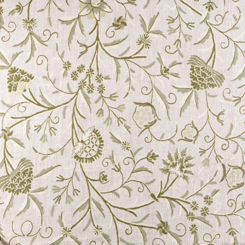 Linen embroidered fabric
