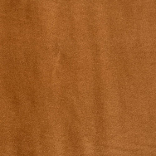 Orange brown cotton velvet fabric