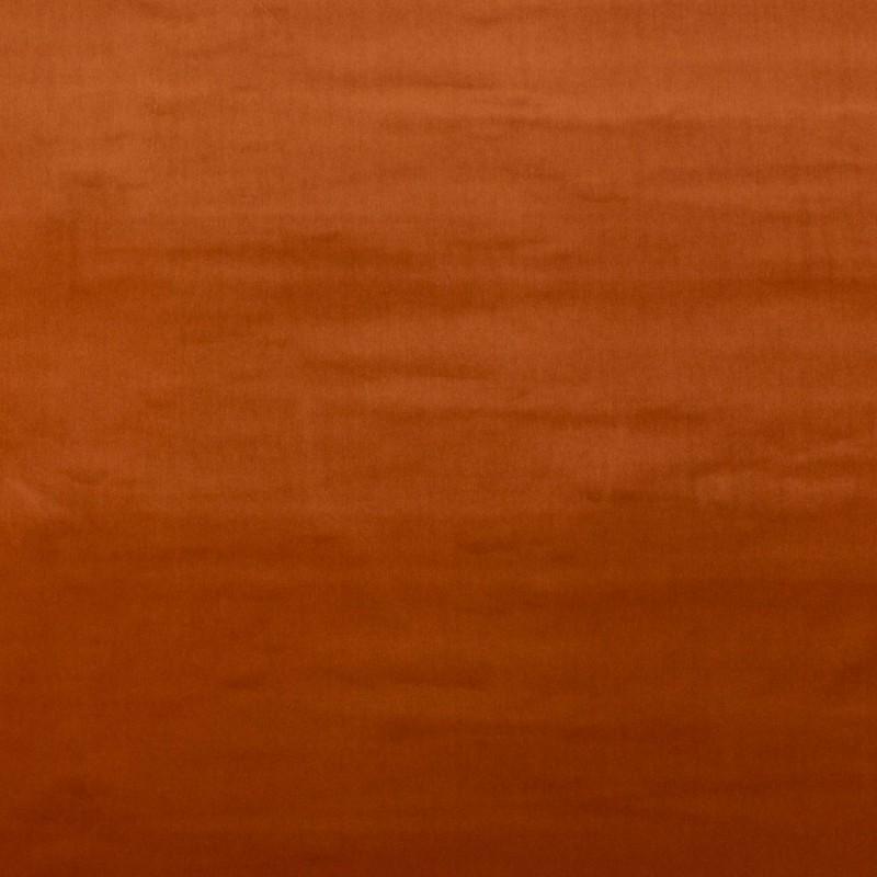 Rust color cotton velvet fabric