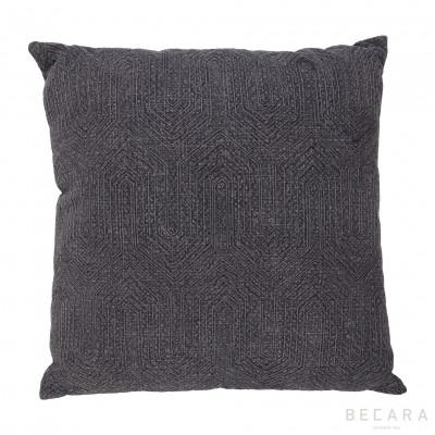 Big gray geometric cushion