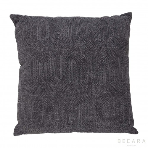 Big gray geometric cushion