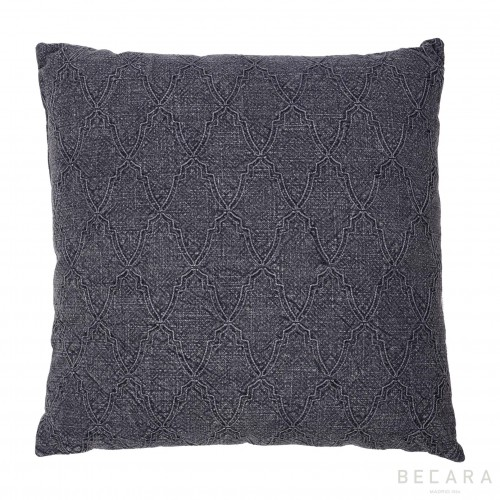 Big gray mosaic cushion