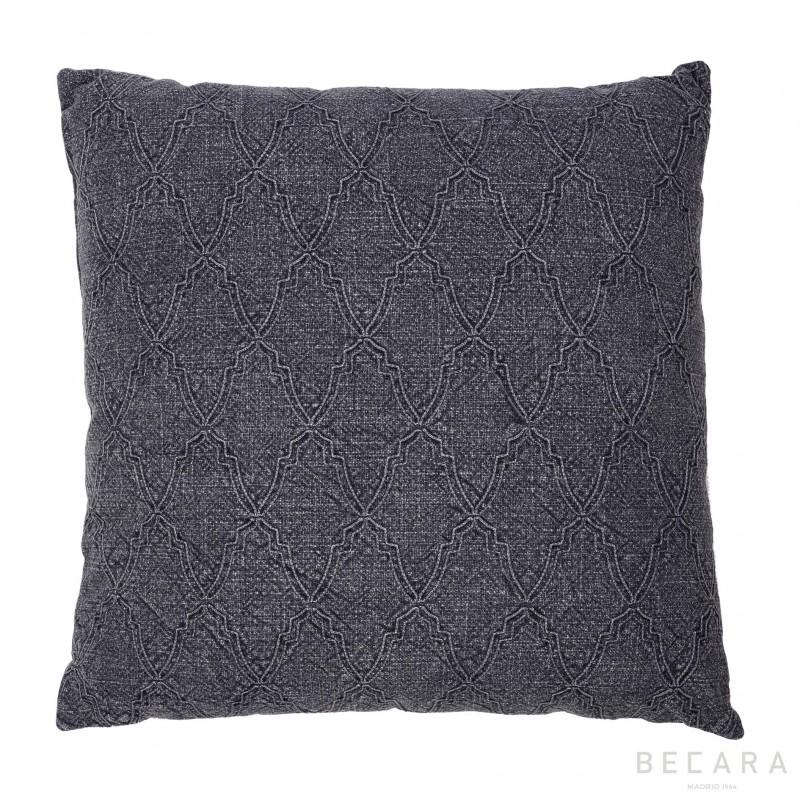 Big gray mosaic cushion